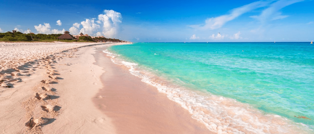 vista de playa del Carmen