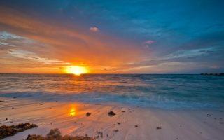 Atardecer en playa del Carmen